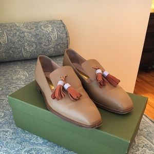 Rupert Sanderson tan leather loafers size 7/37